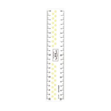 KOKUYO /国誉透明直尺WSG-CLC15 四色随机尺 亚克力淡彩曲奇学生用尺15cm_20cm刻度尺测量