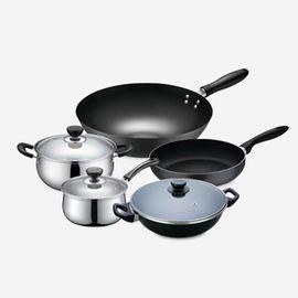 苏泊尔 厨具五件套  VTP1702T 炒锅 汤火锅 煎锅 汤锅 奶锅