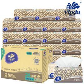 维达 Vinda-倍韧抽纸24包共4320抽加厚2层原木自然无香防敏柔韧宝宝可用餐面巾整箱卫生纸巾