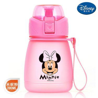 迪士尼 Disney-米妮粉布丁直饮杯390毫升卡通孩学童水杯壶便携带提手休闲户外饮水杯壶