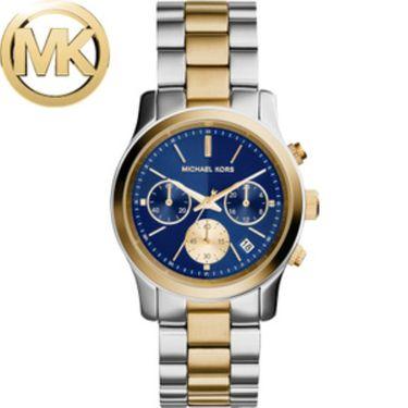 Michael Kors 迈克科尔斯MK女士手表圆盘日历防水钢带手表 MK616-系列 表盘直径38mm