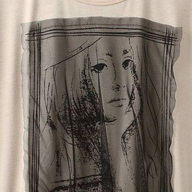 乔伊思 2018夏季新款百搭时尚圆领撞色拼接短袖女款T恤J828574