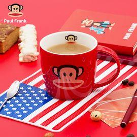 大嘴猴 马克杯经典简约咖啡杯低骨瓷陶瓷水杯牛奶杯卡通杯子 红色