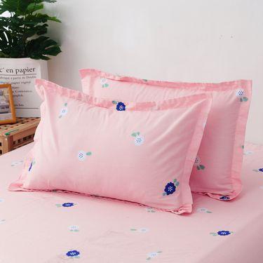 艾桐 纯棉枕套一对 全棉印花枕头套
