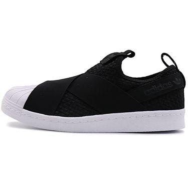 阿迪达斯 Adidas三叶草男鞋女鞋新品SUPERSTAR SLIPON贝壳头黑武士低帮休闲鞋 CQ2487