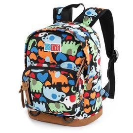 KIKS TYO 可爱小学生书包 童趣动物涂鸦儿童双肩包 幼儿园卡通背包 KY-9221