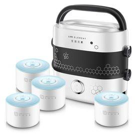 LIFE ELEMENT/生活元素 保温饭盒可插电加热电热饭盒双层陶瓷四胆便携式电饭盒DFH-F1517