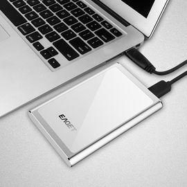 忆捷 EAGET G90 2.5英寸时尚 全金属全盘加密USB3.0高速移动硬盘 1T银色