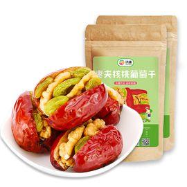 沃疆 枣夹核桃葡萄干258g*2袋 干果零食 特 产一等红枣子夹核桃脆