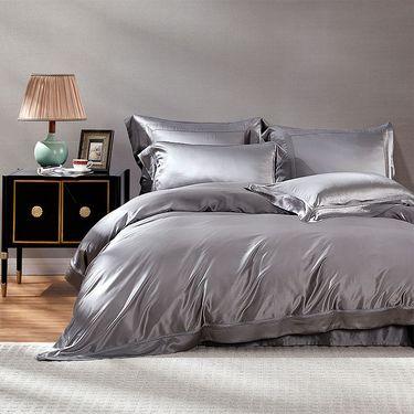 """罗莱  """"粹""""系列 重磅真丝被套/床单/枕套 琉璃蓝 ZY8048 品质生活睡高端床品"""