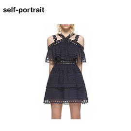 Self Portrait Self-Portrai 连衣裙 SP14007 镂空收腰短款