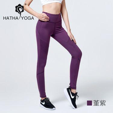 哈他 18春夏新款律动高弹修身瑜伽服中高腰运动速干运动跑步女长裤