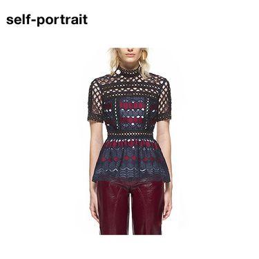 Self Portrait Self-Portrai 上衣 SP14041T 镂空短款 洲际速买