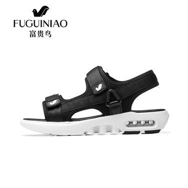 富贵鸟  男士凉鞋夏季2018真皮休闲沙滩鞋防滑透气男凉鞋