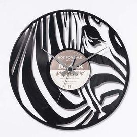 DIS C'O'CLOCK 意大利原产斑马黑胶唱片碟挂钟钟表
