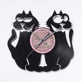 DIS C'O'CLOCK 意大利原产鸳鸯灵猫黑胶唱片碟挂钟钟表