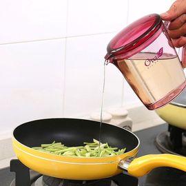 馨乐屋 厨房用带盖油壶 便捷防漏 不易挂油