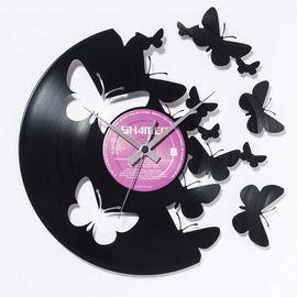 DIS C'O'CLOCK 意大利原产蝴蝶之谜黑胶唱片碟挂钟钟表