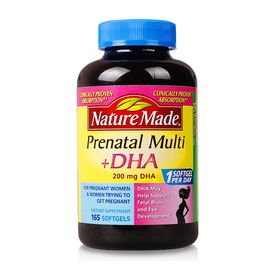 Nature made 莱萃美 孕妇专用女性综合维生素DHA叶酸 165粒  美国 效期至19年7月   候鸟海外专营店
