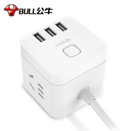 公牛 (BULL)魔方USB插座插线板/ 插排/接线板/拖线板 3USB接口+3 插 孔全长1.5米