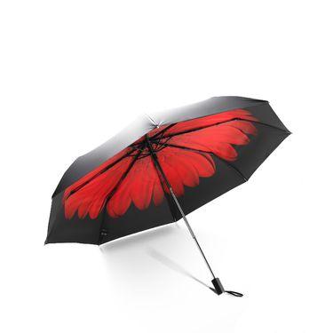 蕉下 BANANAUNDER双层防晒小黑伞晴雨两用伞三折伞(梅染)*