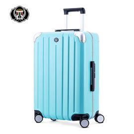 君华仕GENVAS 拉杆箱纯PC铝框箱万向轮行李箱男女士20英寸登机箱旅行箱G-1202