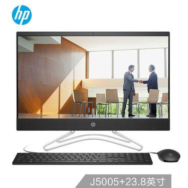 惠普 HP 小欧 24-f020 黑 23.8英寸商用办公 一体机 电脑 J5005 4G 1T  三年上门 FHD