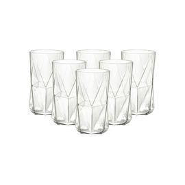 BORMIOLI ROCCO 【意大利进口】卡斯欧匹玻璃水杯家用果汁杯威士忌杯 透明480ml*6只