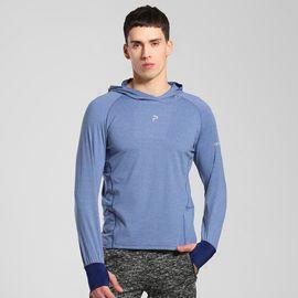 伯希和 PELLIOT运动t恤 男女长袖吸湿排汗透气连帽跑步运动快干t恤
