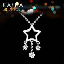 KAILA 925银 女韩版时尚潮人星星镶钻短款气质锁骨链 生日礼物