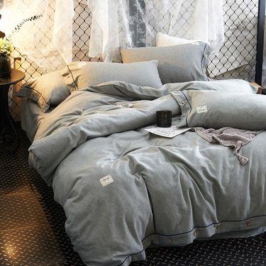 奇居良品 色纺美孚棉床上四件套