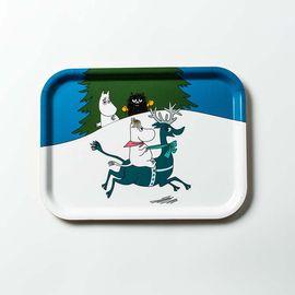 Opto Design 瑞典原产 姆明系列木质托盘餐盘果盘 斯诺克和驯鹿