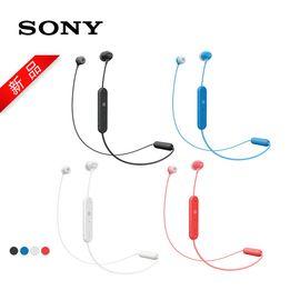 索尼 Sony WI-C300 无线立体声耳机 免提通话 立体声跑步运动蓝牙耳机 新品