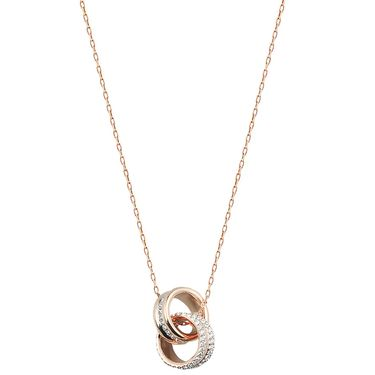施华洛世奇 Swarovski  水晶般质感转运螺旋女项链吊坠 玫瑰金5240525