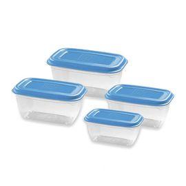 GIO'STYLE 意大利原产 环保无酚塑料方形食品盒四件套