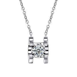 古钻  10分18K金钻石女士四爪吊坠/项链/首饰 D1710