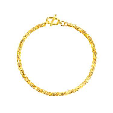 古钻 GZUAN古钻 黄金手链 约7.3克足金小鱼手链CG2J1002