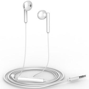 华为 半入耳式耳机AM116 双耳立体声音乐可听歌金属线控耳麦有线三键运动健身跑步 华为苹果iphone小米三星手机通用