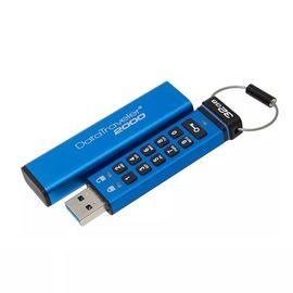 金士顿 DT2000 USB3.1高速 兼容3.0硬件加密数字键企业u盘 64G