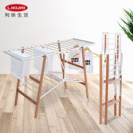 LIKUAI/利快 FOPPA意大利进口木质晾衣架折叠落地家用室内户外 阳台晒衣架