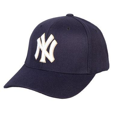MLB 纽约洋基队NY棒球帽 刺绣黄线无侧标男女通用款休闲帽 32CP84711-50N