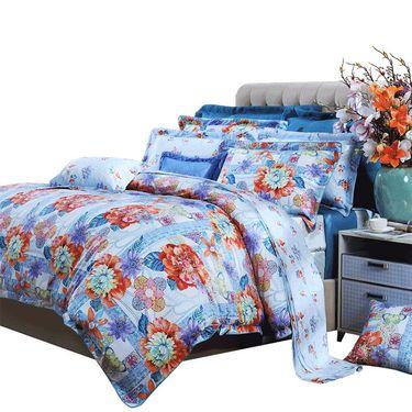 富安娜 清风雅颂全新磨毛床上用品四件套1.5米