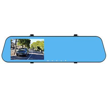 康帕斯 行车记录仪 4.3寸触摸屏 前后双镜头倒车可视 后视镜记录仪G10