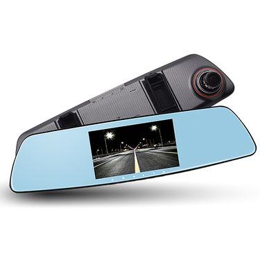 康帕斯 行车记录仪 5.0寸触摸屏 前后双镜头 后视镜记录仪V506