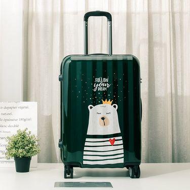 丽芙 超强韧飞机轮印花旅行箱  20寸/24寸 卡通密码箱拉杆箱行李箱登机箱男女通用皮箱