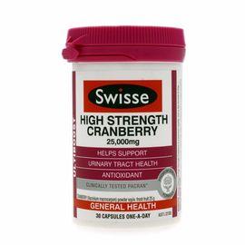 Swisse  高浓度蔓越莓胶囊25000mg 30粒 澳洲进口 呵护泌尿系统健康 候鸟海外专营店