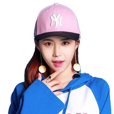 MLB 棒球帽纽约洋基队 粉色四季女款休闲帽 粉色白标NY 32CP84711-50P