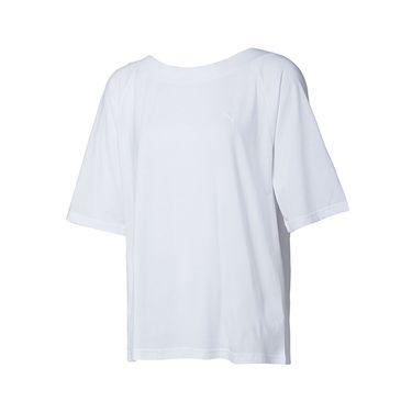 PUMA彪马 夏季新款运动休闲透气大码宽松女子圆领短袖露背T恤 Evo 576348