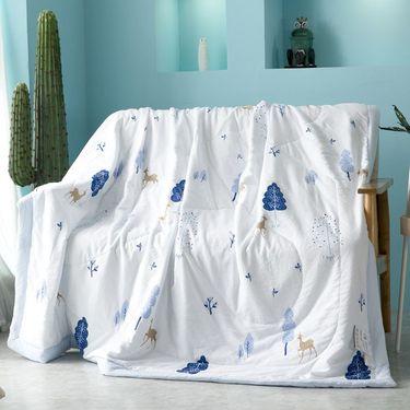 馨乐屋 水洗棉夏被 空调被子 夏凉被 200*230cm  花型随机DX