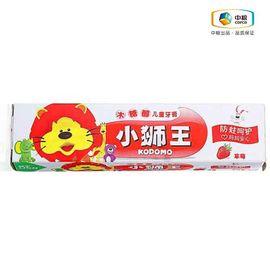 中粮 小狮王木糖醇儿童牙膏 草莓(盒装 40g)